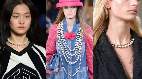 jewelry trends fall 2016 pearls chanel necklaces edgy pearls