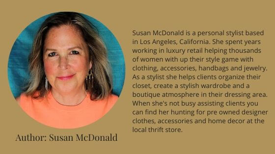 personal stylist Susan McDonald wardrobe clothing accessories styling